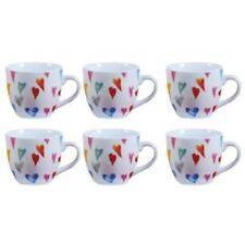 SET 6 TAZZE CAFFE' TAZZINE  DISEGNO CUORICINI CUORI ALLEGRA  22772