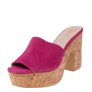 RELISH Mule Sandals Size 40 UK 7 US 10 Block Heel Platform Cork Sole Open Toe
