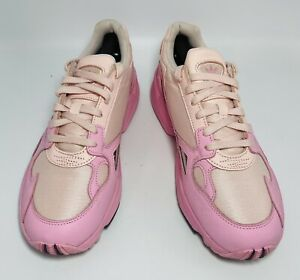 Adidas Womens Falcon EF1994 Pink Running Shoes Lace Up Low Top Size 10.5 EUC