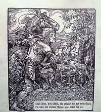 Originaldrucke (1900-1949) aus Europa mit Figürlich und Holzschnitt