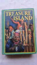Old Book Treasure Island R.L. Stevenson Illust. by Edmond Dulac Early 1900's GC