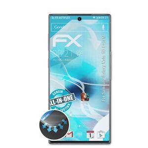 atFoliX 3x Écran protecteur pour Samsung Galaxy Note 10 Casefit clair&flexible
