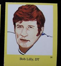 BOB LILLY - DALLAS COWBOYS 1990 HALL OF FAME FOOTBALL sticker