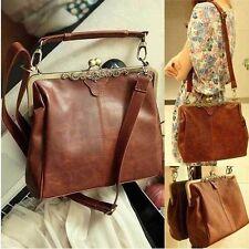 Womens Retro Vintage Ladies Kisslock Shoulder Purse Handbag Totes Bag B101