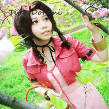 Halloween Wig Hair Cosplay Costume Final Fantasy VII Aerith Karneval Anime Wigs