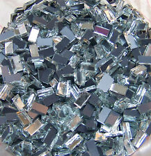 """500 1/4""""x1/2"""" HANDCUT GLASS SILVER Mirrors Mosaic Tiles Tile Art Craft Supplies"""