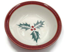New listing Harlequin Holly Red by Denby Cereal Bowl