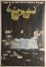 Fat Is Where It's At Original Vintage Poster 1970's Pin-up Power To The Plump