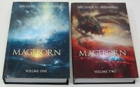 MAGEBORN Michael G Manning Volumes 1 2 NEW Hardcover Book Lot Set Fantasy Series