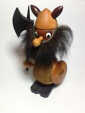 "Mid Century Wooden Viking Figurine""Roy"" Gouda Spain"
