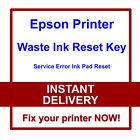 EPSON Artisan 830 835 837 1430 PRINTER RESET WASTE INK PADS SERVICE ERROR FAULT