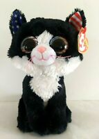"""Ty Beanie Boos Plush Exclusive Freedom 6"""" Cat Patriotic Eyes and Ears 2017"""