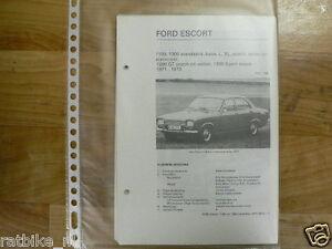FO02-FORD  ESCORT 1100, 1300 STANDAARD,BASE,L,XL,COACH