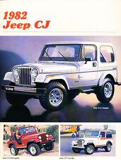 1982 Jeep CJ CJ-5 CJ-7 Original Car Sales Brochure Folder - Renegade Laredo