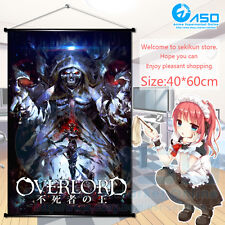 Anime Wall Scroll poster Overlord Momonga Ainz Ooal Gown Home Decor collection