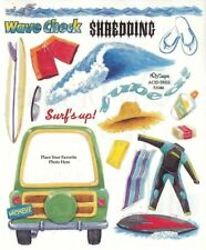 ~ Surfs Surf Up Sports Holiday Frame Wet Suit Travel NRN Design Stickers ~