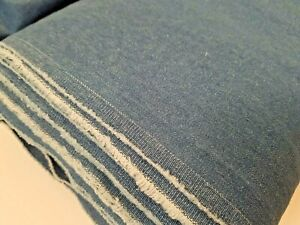 8oz Washed Medium Denim Fabric 100% Cotton - Medium Blue