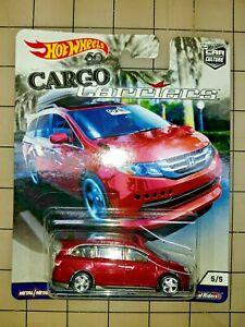Hot Wheels Car Culture Cargo Carriers Honda Odyssey Burgundy 5/5