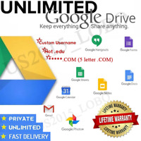 gsuite lifetime UNLIMITED google drive / GDrive ✅ custom account ✅ not .edu ✅