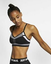 Nike Womens Indy Flyknit Bra Black White Sports Gym Yoga Size Extra SmallXS