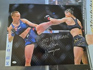 Rose Namajunas Autograph Signed 16x20 Photo UFC JSA COA Inscribed And New Again