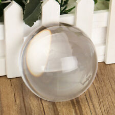 80mm K9 Glass Crystal Paper Clear Half Sphere Lens Ball Magnifying Photo Prop UK