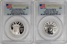 2007-W $50 Statue of Liberty - Platinum Eagle 2 coin 10th Anniversary Pr70 Pcgs