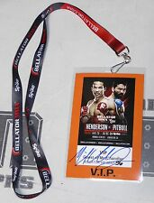 Michael Chandler Signed Bellator 160 MMA Fight Used Worn Pass PSA/DNA Autograph