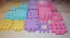 VINTAGE LITTLE TIKES WEE WAFFLE BUILDING BRICKS 29 PASTEL BLOCKS PLAYSET LOT