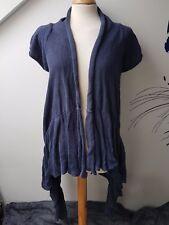 UK8-10 NEXT Knitted Waterfall Asymmetrcal Fashion Long Cardigan Open Jacket Top