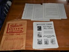 1939 GIBSON GUITAR  * GIBSON SYSTEM FOR GUITAR * TEACHING PAPERS