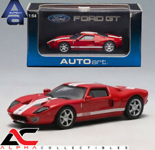 AUTOART 20351 1:64 2004 FORD GT RED WITH WHITE STRIPES