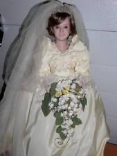 "Danbury Mint ~ Princess Diana 21"" Porcelain Royalty Wedding Gown Doll"