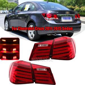 Set LED Rear Tail Lights Lamps For Chevrolet Cruze 2011 2012 2013 2014 15 Sedan