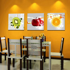 EP_ HK- 3 Pcs Wall Art Canvas Paintings Modern Fruit Picture Home Decor Wall Dec
