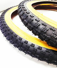 BMX OLD SCHOOL COMP3 TYRES BLACK SOLD IN PAIRS OF 2 (4) WITH TUBES