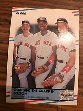 1988 Fleer Mike Greenwell Ellis Burks Todd Benzinger Boston Red Sox #630