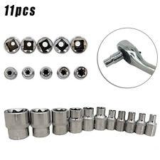 11X  E Torx Star Bits Female Sockets Automotive-Shop Tools 1/4 3/8 E4-E20 Sets