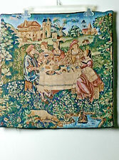 FRENCH WOVEN JACQUARD TAPESTRY THROW PILLOW CUSHION COVER PICNIC