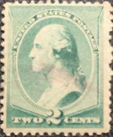 Scott #213 US 1883 2 Cent Washington Bank Note Stamp XF
