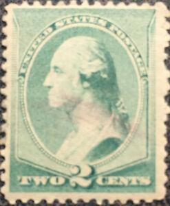 Vintage Scott #213 US 1883 2 Cent Washington Bank Note Stamp