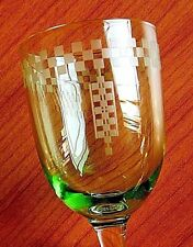 FRANK LLOYD WRIGHT AUTHENTIC IMPERIAL HOTEL GREEN SHERRY WINE GLASS CA 1920-50