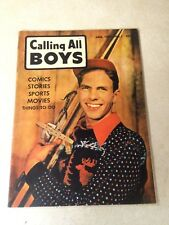 Calling All Boys #1 comics sports movies, Tough To Find 1St Issue, 1946
