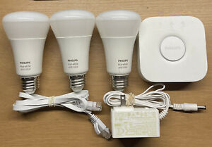 Philips Hue White and Color Ambiance A19 2nd Gen Starter Kit (3 x 60W Bulbs)