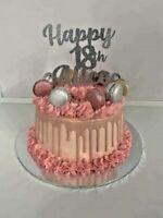 Custom Cake Topper Happy 18th Any age Glitter Any Word Name