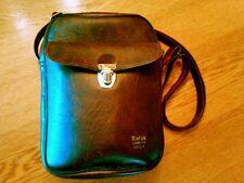 Vintage Leather Kodak Camera Caddy, Adjustable Strap, Front Pocket, Lined