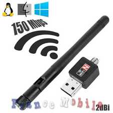 Cle WIFI USB WLAN Dongle 150Mbps 2dBi Wireless Adapter 2.4G 802.11 Network Noir