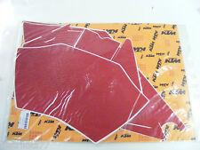 stickers fond de plaque numéro rouge  KTM   EXC  SX     2004  ref:5480808810038
