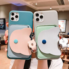 Cartoon Leather Wallet Back Phone Case Cover For iPhone 11 Max X XR Xs 7 SE 2020