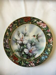 Lena Liu Ruby-Throated Hummingbird Collector Plate Boxed With Certificate
